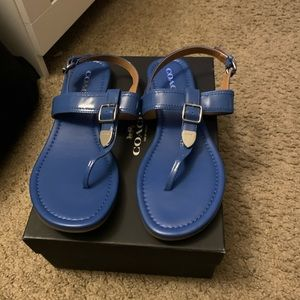 Coach patent size 9 Lapis sandals